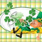 "Lazy Happy Leprechaun #3 ~ St. Patrick's Day ~ Horizontal  ~ 6"" X 8"" Foil Pan Lid Cover"