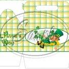 Lazy Happy Leprechaun #1 ~ St. Patrick's Day ~ Gable Gift or Snack Box