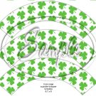 Happy St. Patrick's Day Shamrock  ~ St. Patrick's Day Cupcake Wrappers  ~ Set of 1 Dozen