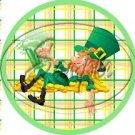 Happy Lazy Leprechaun Plaid ~ St. Patrick's Day Scallop Cupcake Toppers ~ Set of 1 Dozen