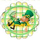 Happy Lazy Leprechaun Plaid Scallop ~ St. Patrick's Day Scallop Cupcake Toppers ~ Set of 1 Dozen