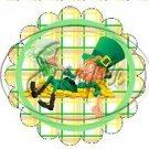 Happy Lazy Leprechaun Plaid Scallop ~ St. Patrick's Day Scallop Cupcake Toppers ~ Set of 1 Dozen