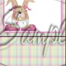 Baby Girl Easter Bunny ~ MINI Candy Bar Wrappers