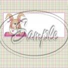 Baby Girl Easter Bunny ~ Standard 1.55 oz Candy Bar Wrapper  SOE
