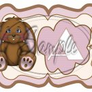 Brown Easter Bunny ~  Alphabet MINI Candy Bar Wrapper