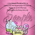 Pink Bunny Kisses ~ Treat Bag Topper