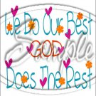 "God Does the Rest  ~ Sympathy  ~ Vertical  ~ 6"" X 8"" Foil Pan Lid Cover"