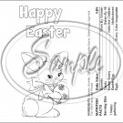 Color Me Easter #2 Nutritional Facts ~ Standard 1.55 oz Candy Bar Wrapper  SOE