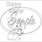 Color Me Easter #2A  ~ Standard 1.55 oz Candy Bar Wrapper  SOE 1 Dozen