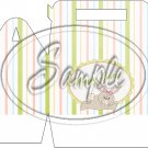 Easter Bunny Gray Bunny Striped ~ Gable Gift or Snack Box