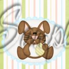 Easter Bunny Striped ~ MINI Candy Bar Wrappers