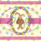 Easter Bunny Jelly Bean ~  Quart Glass Jar