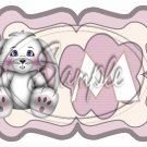 White Easter Bunny ~  Alphabet MINI Candy Bar Wrapper