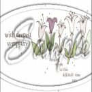 "With Deepest Sympathy ~ Sympathy  ~ Vertical  ~ 6"" X 8"" Foil Pan Lid Cover"