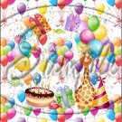 "Happy Birthday Balloons #1 ~ Vertical  ~ 6"" X 8"" Foil Pan Lid Cover"