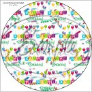 """Happy Birthday Balloons #6 ~ 7"""" Round Foil Pan Lid Cover"""