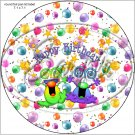 "Happy Birthday Balloons #11 ~ 7"" Round Foil Pan Lid Cover"