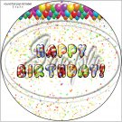 "Happy Birthday Balloons #12 ~ 7"" Round Foil Pan Lid Cover"