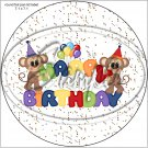 "Happy Birthday Balloons #13 ~ 7"" Round Foil Pan Lid Cover"