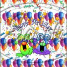 "Happy Birthday Balloons #6 ~ Vertical  ~ 6"" X 8"" Foil Pan Lid Cover"