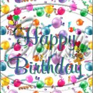 "Happy Birthday Balloons #8 ~ Vertical  ~ 6"" X 8"" Foil Pan Lid Cover"