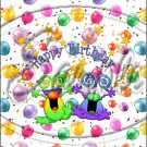 """Happy Birthday Balloons #11 ~ Vertical  ~ 6"""" X 8"""" Foil Pan Lid Cover"""