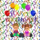 "Happy Birthday Balloons #15 ~ Vertical  ~ 6"" X 8"" Foil Pan Lid Cover"