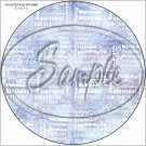 "Happy Birthday Word Collage Blue ~ 7"" Round Foil Pan Lid Cover"