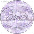 "Happy Birthday Word Collage Lavender ~ 7"" Round Foil Pan Lid Cover"
