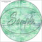 "Happy Birthday Word Collage Dark Green ~ 7"" Round Foil Pan Lid Cover"