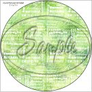 "Happy Birthday Word Collage Lime Green  ~ 7"" Round Foil Pan Lid Cover"