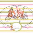 Bunnies Just Having Fun ~ Standard 1.55 oz Candy Bar Wrapper  SOE