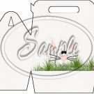 Bunny in the Grass With Purple Happy Easter ~ Gable Gift or Snack Box