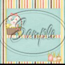 Easter Bunny Easter Eggs Pink & Green ~ Standard 1.55 oz Candy Bar Wrapper  SOE