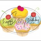 "Happy Birthday #3 ~ Horizontal  ~ 6"" X 8"" Foil Pan Lid Cover"