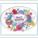 "Happy Birthday #5 ~ Horizontal  ~ 6"" X 8"" Foil Pan Lid Cover"