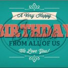 "Happy Birthday #9 ~ Horizontal  ~ 6"" X 8"" Foil Pan Lid Cover"