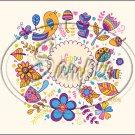 "Happy Birthday #10 ~ Horizontal  ~ 6"" X 8"" Foil Pan Lid Cover"