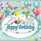 "Happy Birthday #11 ~ Horizontal  ~ 6"" X 8"" Foil Pan Lid Cover"