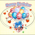 "Happy Birthday #12 ~ Horizontal  ~ 6"" X 8"" Foil Pan Lid Cover"