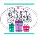 "Happy Birthday #14 ~ Horizontal  ~ 6"" X 8"" Foil Pan Lid Cover"