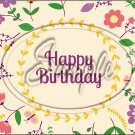 "Happy Birthday #17 ~ Horizontal  ~ 6"" X 8"" Foil Pan Lid Cover"