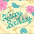 "Happy Birthday #18 ~ Horizontal  ~ 6"" X 8"" Foil Pan Lid Cover"