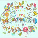 "Happy Birthday #20 ~ Horizontal  ~ 6"" X 8"" Foil Pan Lid Cover"