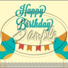 "Happy Birthday #21 ~ Horizontal  ~ 6"" X 8"" Foil Pan Lid Cover"