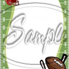 "Football Field Blank Personalize it ~ Vertical  ~ 6"" X 8"" Foil Pan Lid Cover"