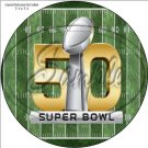 "Football Field Super Bowl ~ 7"" Round Foil Pan Lid Cover"