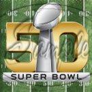 "Football Field Blank Super Bowl ~ Vertical  ~ 6"" X 8"" Foil Pan Lid Cover"