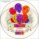 "Happy Birthday #2  ~ 7"" Round Foil Pan Lid Cover"