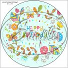 "Happy Birthday #6  ~ 7"" Round Foil Pan Lid Cover"